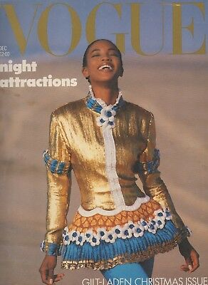 Vintage British Vogue December 1987, Naomi Campbell Cover