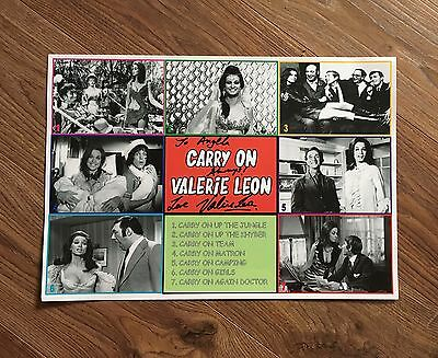 Rare & Exclusive One Off Poster Signed By Valerie Leon