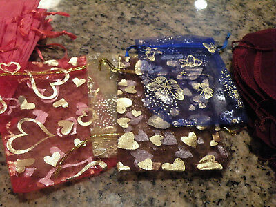12-assorted-designed-jewelry-pouches drawstring bags