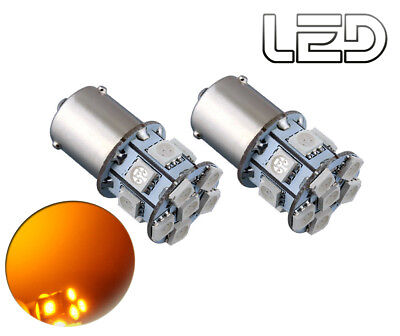 2 Ampoules BAU15s PY21w Orange 13 LED SMD