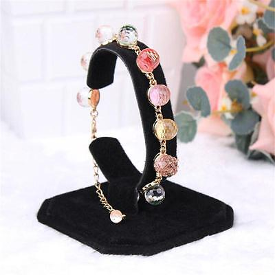 Black Velvet C Type Design Jewelry Bracelet Watch Display Rack Stand Holder To