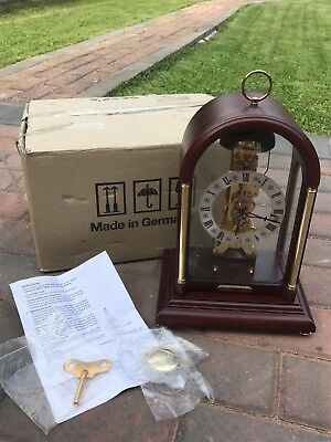Rare Hermle Mantel Clock - Skeleton Movement 791-081- Boxed