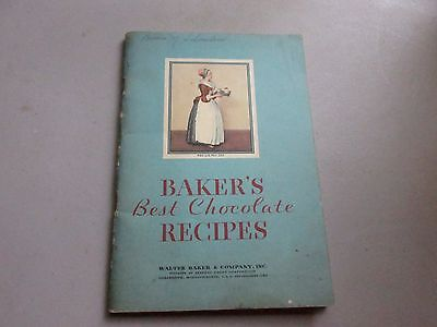 Bakers Best Chocolate Recipes 1932