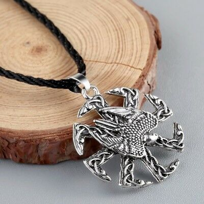 Valknut Odin 's Eagle Vikings Norse slavic Pendant Necklace Viking Jewelry