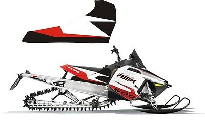 POLARIS RUSH PRO RMK  ASSAULT 144 155 163 TOP side TUNNEL DECAL STICKER grey red