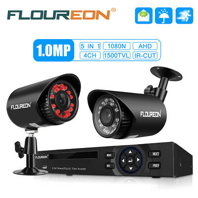 FLOUREON 8CH 1080P DVR 1500TVL Video CCTV Surveillance Camera Security System UK
