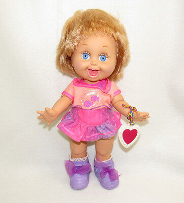 Vtg 1990 Galoob Baby Face Doll Playful Penny #10 Dressed