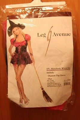 Leg Avenue Storybook Witch Pink Black Sexy Halloween Costume Women's Small