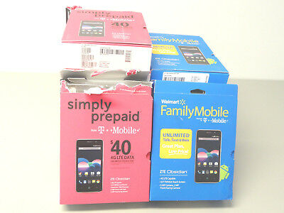 Lot of 11 New With Box ZTE Obsidian Z820 Smartphones 6 T-Mobile 5 Family Mobile