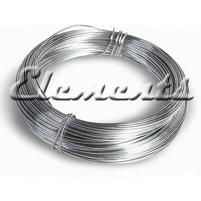 Silver Plated Non Tarnish Jewellery Craft Round Wire 0.2mm - 2mm