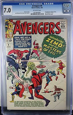 Avengers #6 Cgc 7.0 1St Baron Zemo & The Masters Of Evil