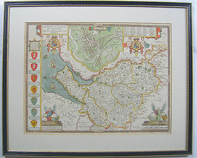 Cheshire: antique map by John Speed, 1676