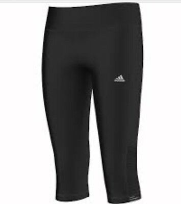 adidas YG AIS 3/4 Capri tights for Girls Black S21647 free 1st class delivery