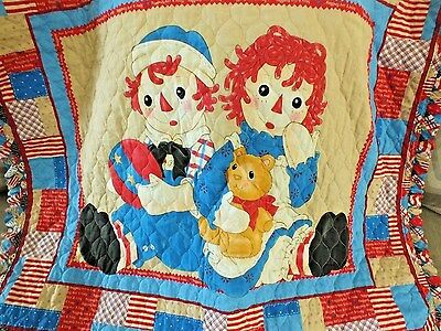 Raggedy Ann and Andy Crib / Toddler Bed Quilt