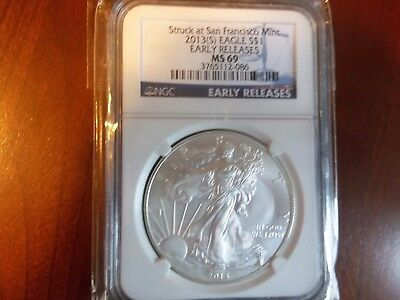 2013 MS69 American Eagle Silver Dollar EARLY RELEASE PCGS Free Ship