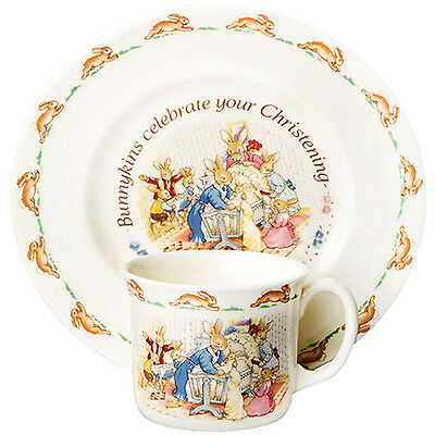 Bunnykins Christening Set 2pc by Royal Doulton