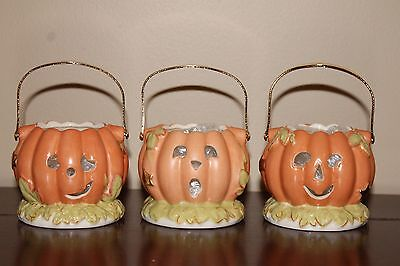 Lenox Pumpkin Votives ~set of 3~ NIB and ready for Halloween