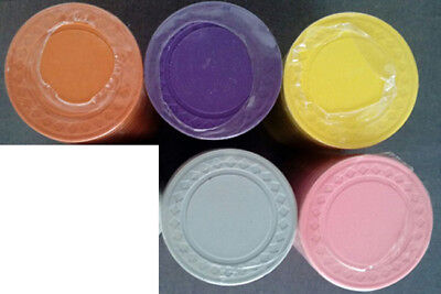 200 CLAY Roulette / poker chips 8 gram diamond edge choice of 5 colors
