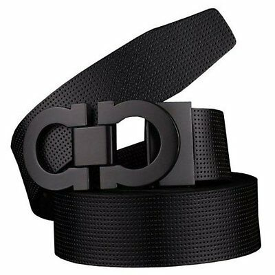 Men Leather Belt Fashion Casual Waistband Smooth Elegant Buckle Strap Men's Gift
