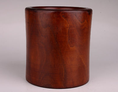 Solid Wood Carving Brush Jar Pot High-End Desktop Products Collectable Decoratio