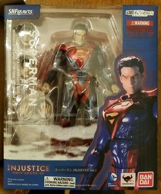 D.C. Injustice Superman, S.H.Figuarts, New, Free Shipping