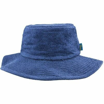 KIDS BUCKET HAT Wide Brim Terry Towelling Sun Protection Size 2 1296b9c17cf