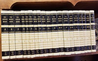 vintage - WORLD BOOK ENCYCLOPEDIA, 1959, and Year books from 1962 through 1979