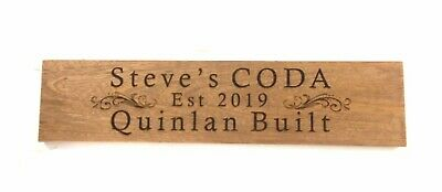 Christmas Gift House Sign Custom Laser Engraved Australian Hard Wood 540x140mm