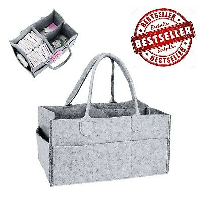 Baby Diaper Caddy Nursery Storage Bin Portable Organizer Supplies Basket Grey