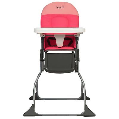 Cosco Simple Fold High Chair Colorblock Coral