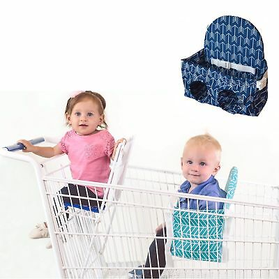 Buggy Bench Shopping Cart Seat in Ocean Blue for Baby Toddler and Twins (Up T...