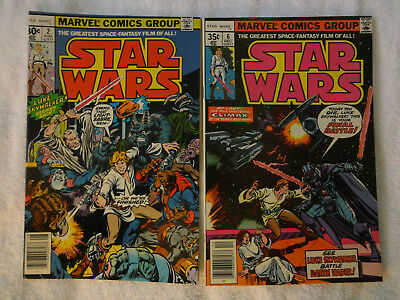 Star Wars (Marvel Comics 1977) lot # 2, 6 Luke Skywalker Han Solo