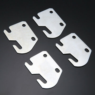 Set of 4 Iron Universal Wood Bed Rail Replacement Bracket Metal Claw Hook Plates