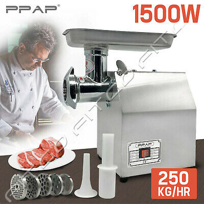 950W Commercial Meat Grinder 1.2HP Electric Mincer Sausage Filler Maker 150 Kg/H