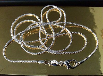 """925 Sterling Silver Snake Chain 🔥 NEW 🔥 30"""" Extra Long 🔥 + FREE Gift Bag💋"""
