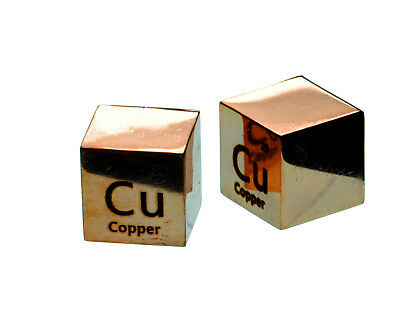 Copper MIRROR POLISHED Metal 10mm Density Cube Pure for Element Collection