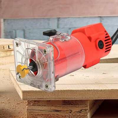 220V 300W 3000RPM Trim Router Woodworking Cabinet Wood Edge Cuts Power Tool Set