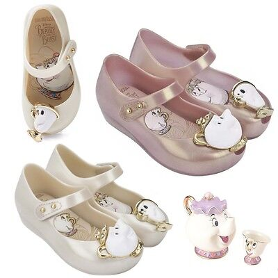 Cute Jelly Shoes Beauty And The Beast Girl Kids Party Chip Cup Princess Ballet