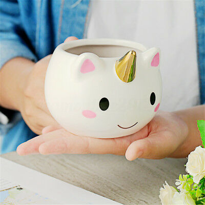 3D Unicorn Lovely Cartoon Coffee Milk Water Mug Ceramic Tea Cup Xmas Gift Decor