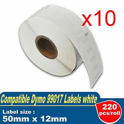 10x Label Roll For Dymo LW 99017 SD99017 Labelwriter 450 12mm x 50mm SD99017