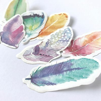Feather Sticky Notes Post Its Set of 4 Water Colour Memo Pad Planner Accessories