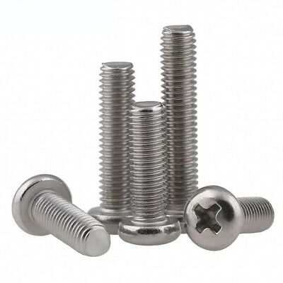 M3 A2(304) Stainless Steel Phillips Round Head Pan Head Screws Bolts M3*3-M3*80