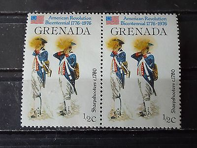 Paire 2 timbres neuf Grenada : Sharpshooters - Tireurs d'élite