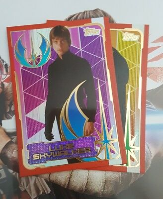 TOPPS STAR WARS JOURNEY TO THE LAST JEDI CARDS - Select 3 Jedi Foil Cards Listed