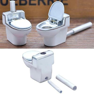 Metal Toilet Smoking Pipe Portable Creative Herb Tobacco Cigarette Collecting