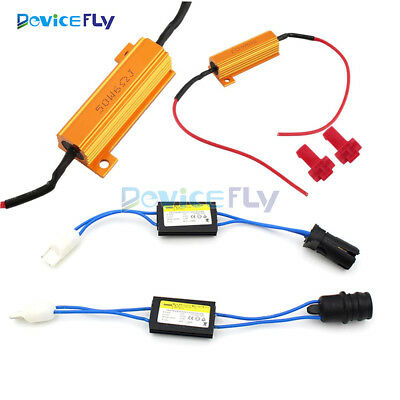 5W-50W 6Ω 501 T10 W5W 12V LED Load Resistor Warning Canceller Decoder For Cars