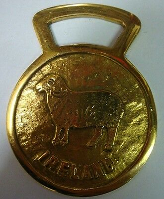 Ireland Brass Hand Crafted Hanging Ornament Sheep