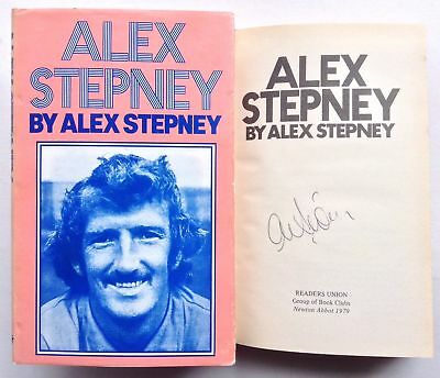 Alex Stepney Signed 1970's Book Manchester United Autograph