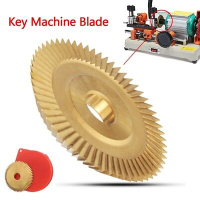 60×7.3×12.7 mm Locksmith Blade Key Machine Disc Bl