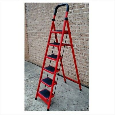 6 Step Tread Anti Slip Rubber DIY Home Office Maintenance Metal Platform Ladder
